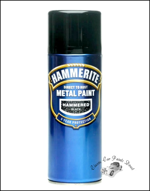 Hammerite direct to rust metal paint 400ml aerosol Black metal spray paint