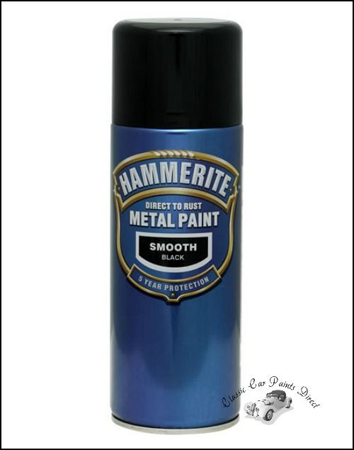 Metal Paint Aerosol Satin Black
