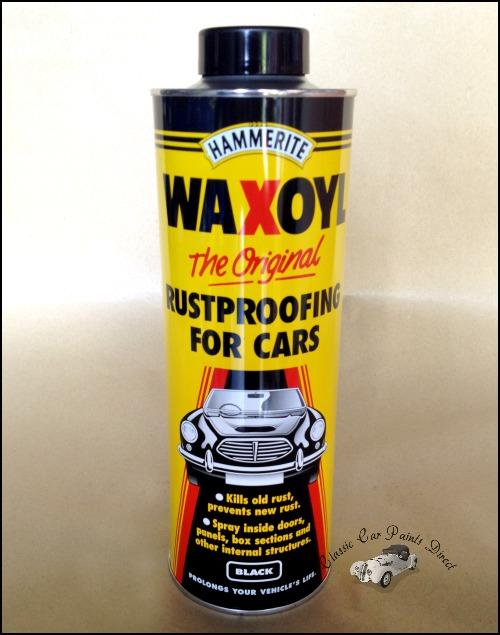 hammerite waxoyl original rustproofing for cars black clear. Black Bedroom Furniture Sets. Home Design Ideas