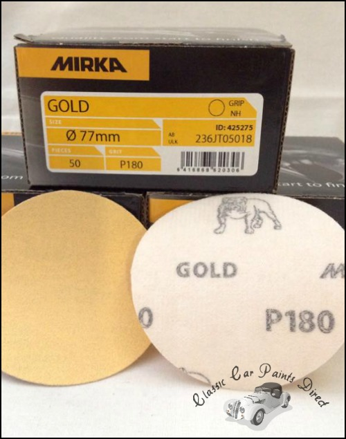 Mirka Gold 77mm Sanding Discs P180