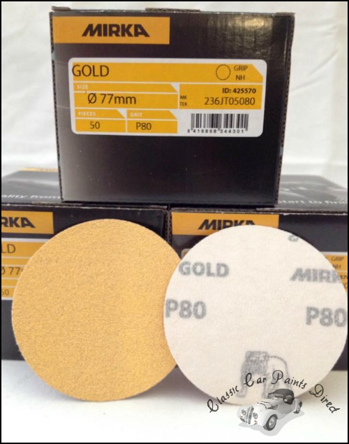 Mirka Gold 77mm Sanding Discs P80
