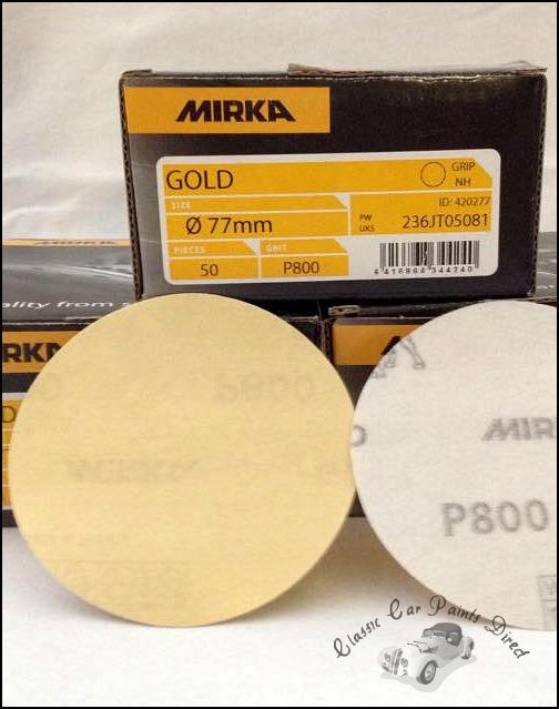 Mirka Gold 77mm Sanding Discs P800