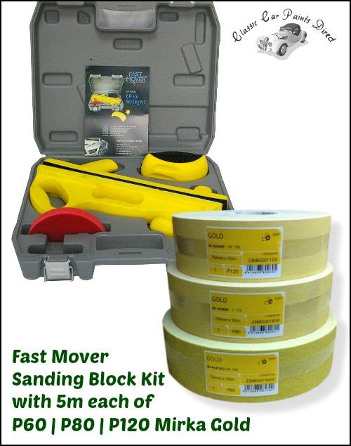 FMT5519 Sanding Block kit with Mirka Gold Strips