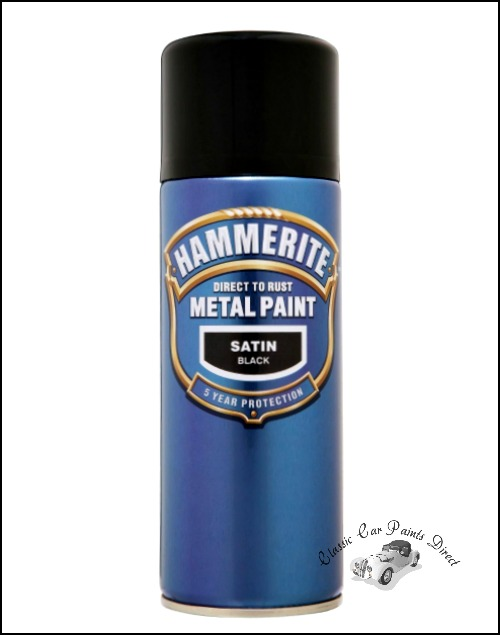 Direct To Rust Metal Paint Satin Black