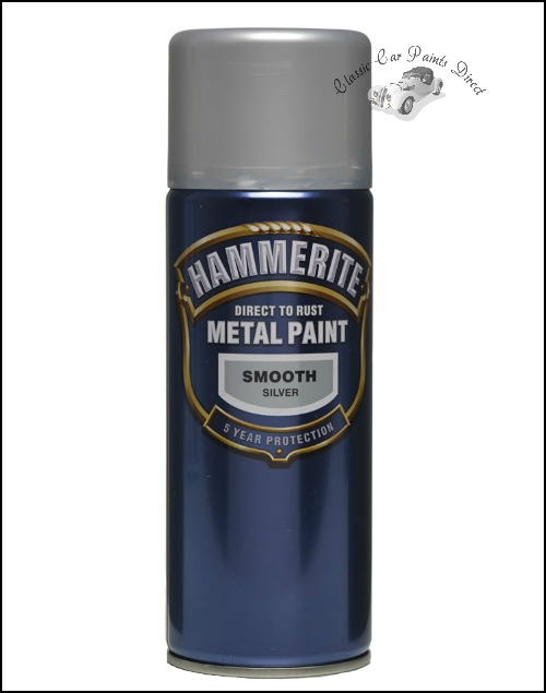 Direct To Rust Hammerite Smooth Silver