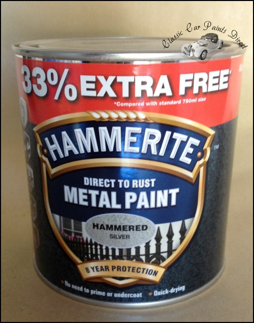 Hammered Silver Metal Paint 750ml
