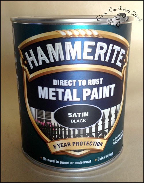 Hammerite Satin Black - 750ml Tin