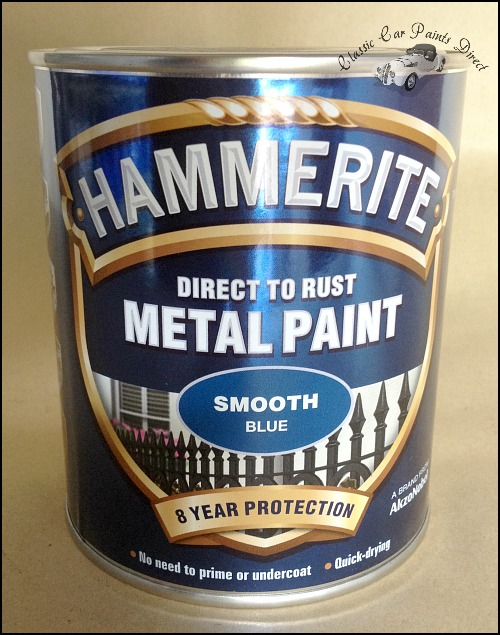 Smooth Blue Hammerite Metal Paint 750ml