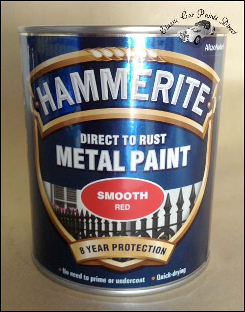 Hammeriste Metal Paint 750ml Smooth Red