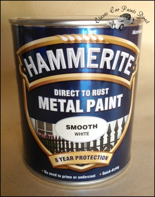 Direct To Rust Hammerite Smooth White 750ml