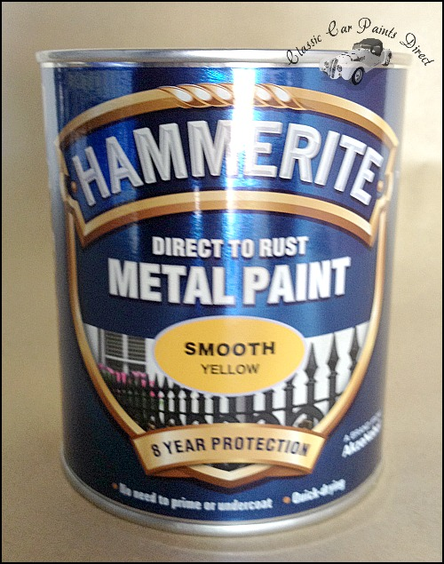 Smooth Yellow Hammeriate Direct To Metal 750ml tin