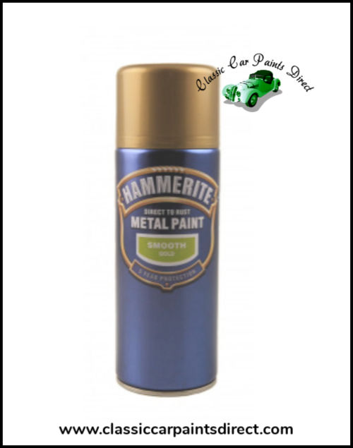 Hammerite Direct to Metal Smooth Gold 400ml