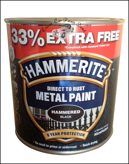 Hammered Black Hammerite 750ml