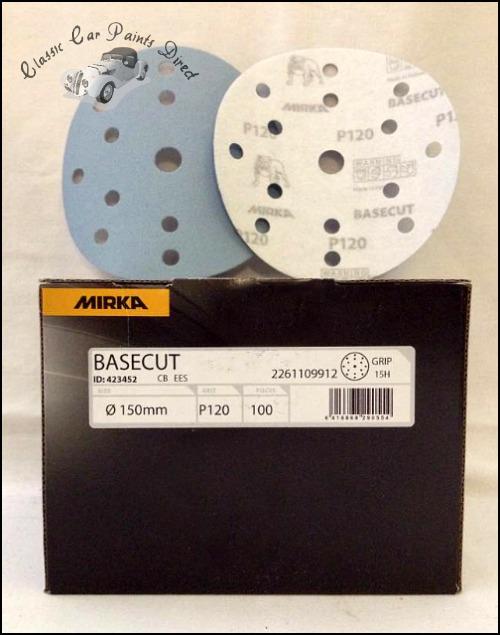 "Basecut 6"" Velcro Sanding Discs P120 Grit"