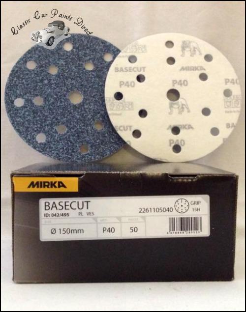 "Basecut 6"" Velcro Sanding Discs P40 Grit"