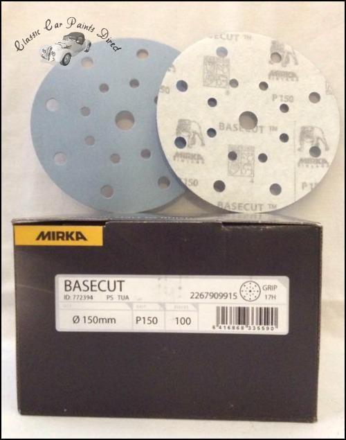 Mirka Basecut Sanding Discs P150 Grit
