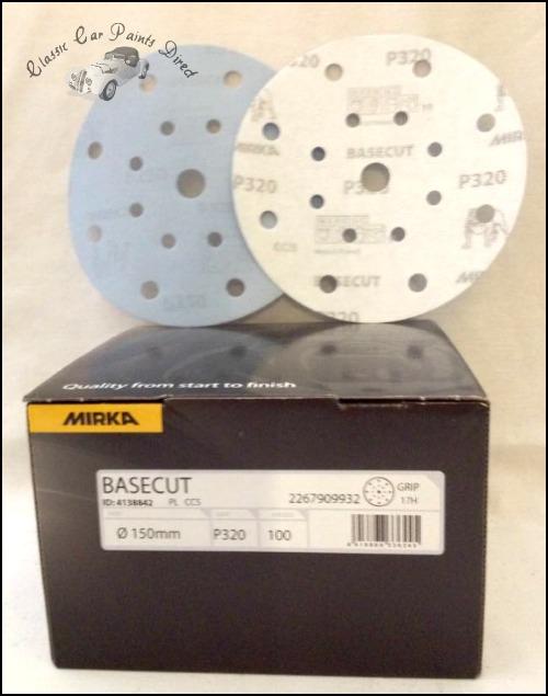 Mirka Basecut Sanding Discs P320 Grit