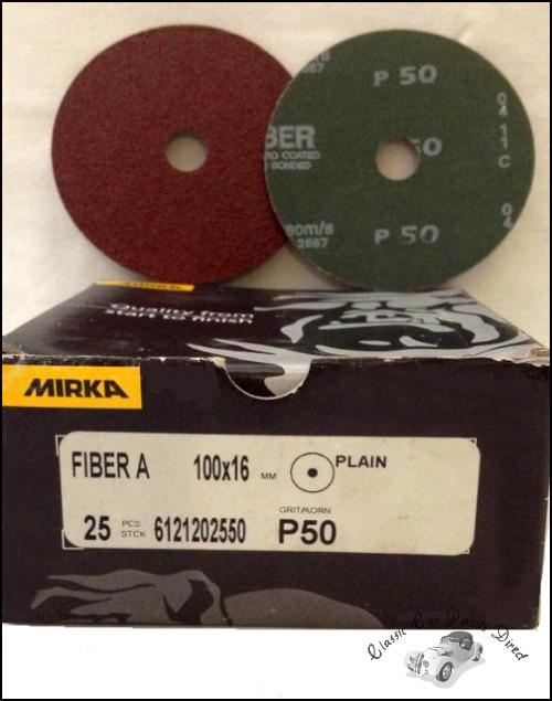 """Fiber Grinding/ Sanding Discs 4"""" P50"""