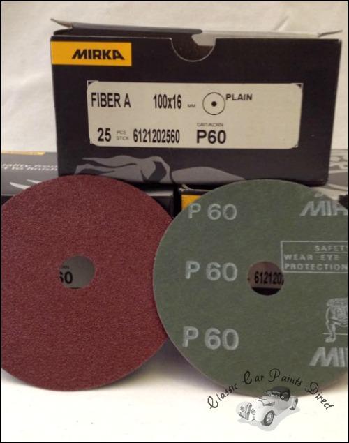 """Fiber Grinding/ Sanding Discs 4"""" P60"""