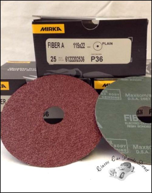 Fiber A Sanding Discs 4.5 inch P36 grit