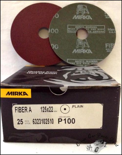 Fiber A Sanding Discs 5 inch P100 grit