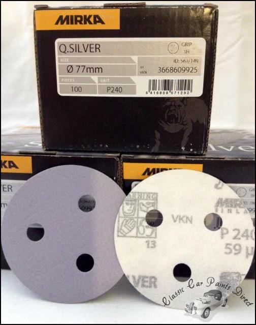 Q-Silver Sanding Discs P240 Grit