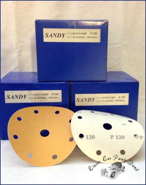150mm 9 hole Sanding Discs P120 Grit