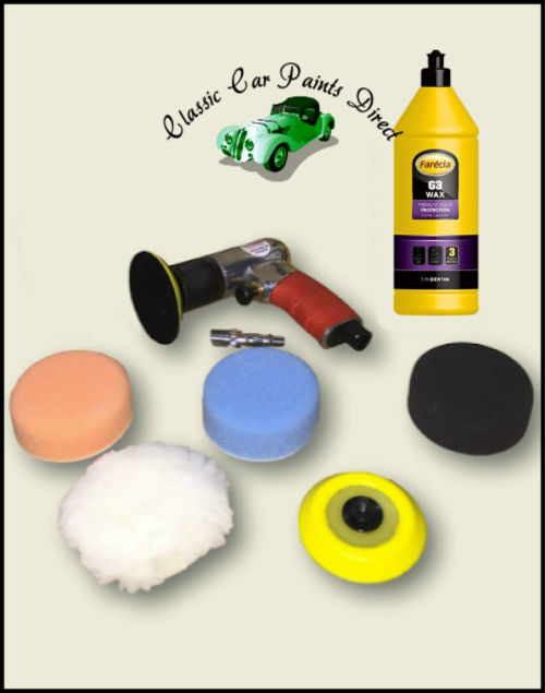 Sealey Air Polisher Kit with G3 Wax