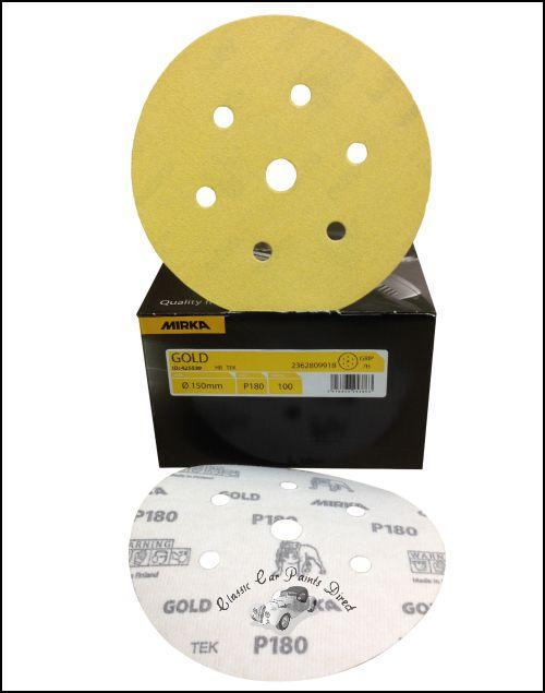 Mirka Gold Sanding Discs 7H p180 150mm