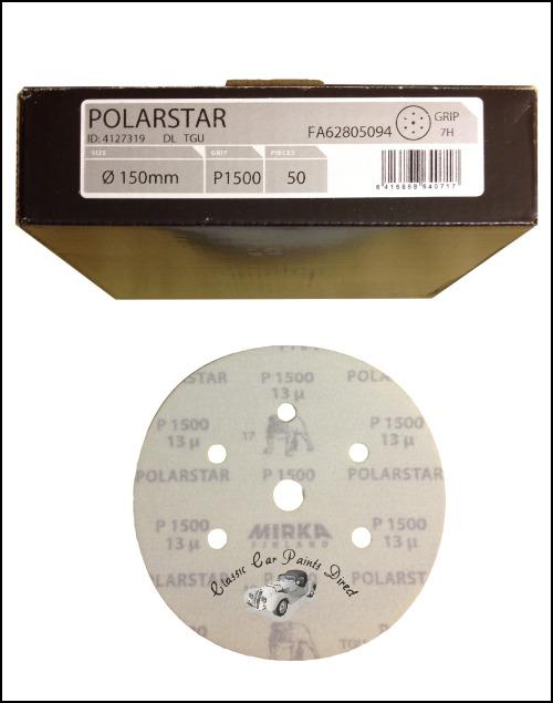 "Polarstar 7H 6"" sanding discs"