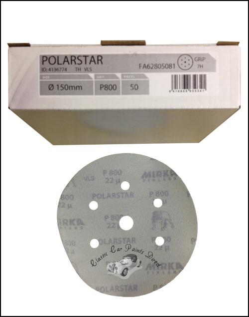 "Polarstar 7H 6"" sanding discs P800"