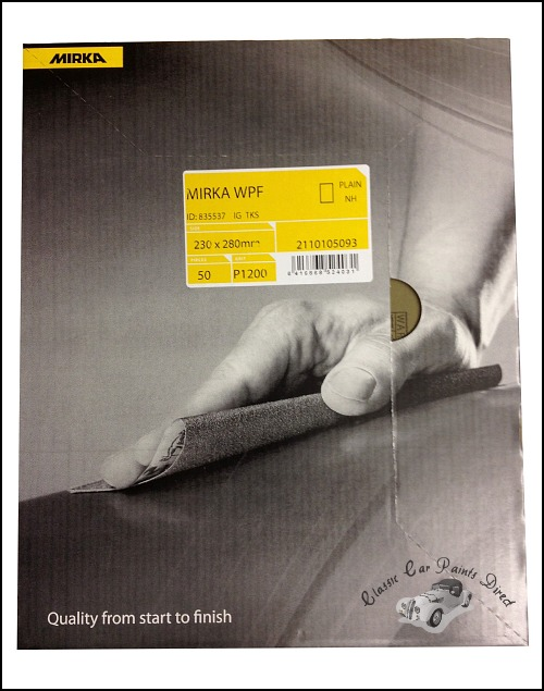 Mirka Wet & Dry Sanding Sheets P1200 Grit