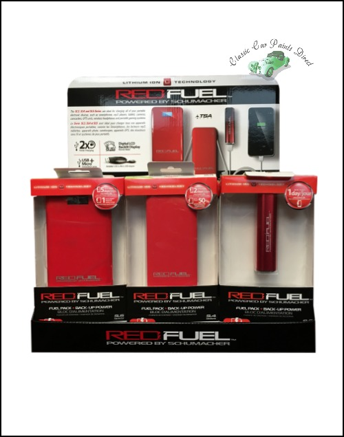 Red Fuel Trio Phone Power Bank