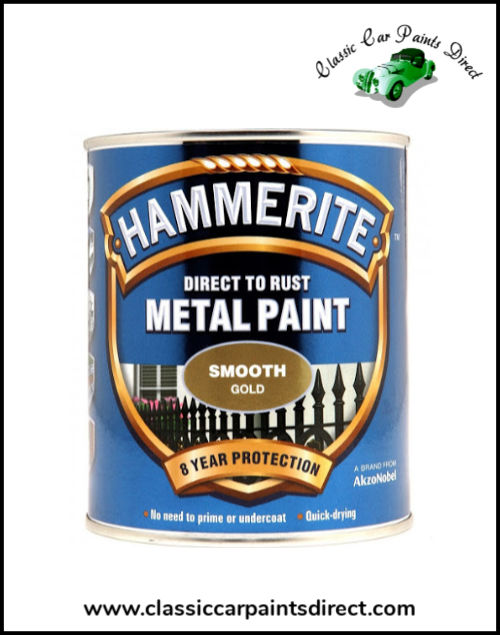 Hammerite Direct to Metal Smooth Gold 750ml